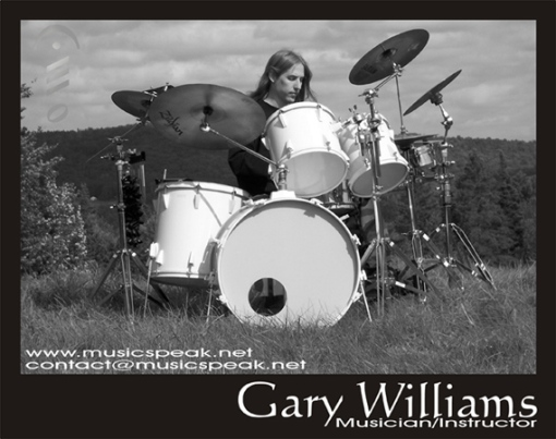 "Musicspeak musicians corner Gary Williams ""let the music speak"" Musicspeak Education Program guitar bass drums production songwriting private lessons music lessons Vermont music Musicspeak is a registered trademark all rights reserved"