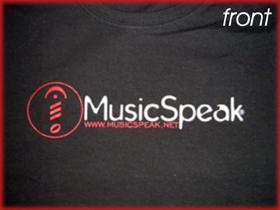 MusicspeakFrontShirt