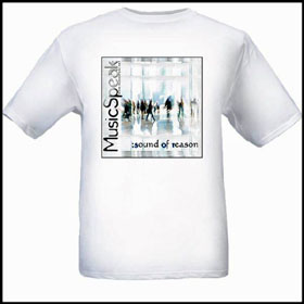 MusicSpeak CD MP3 Streaming on sale free shipping Music Speak special offer t shirts stickers and other Music speak merchandise let the music speak music speaks store shop